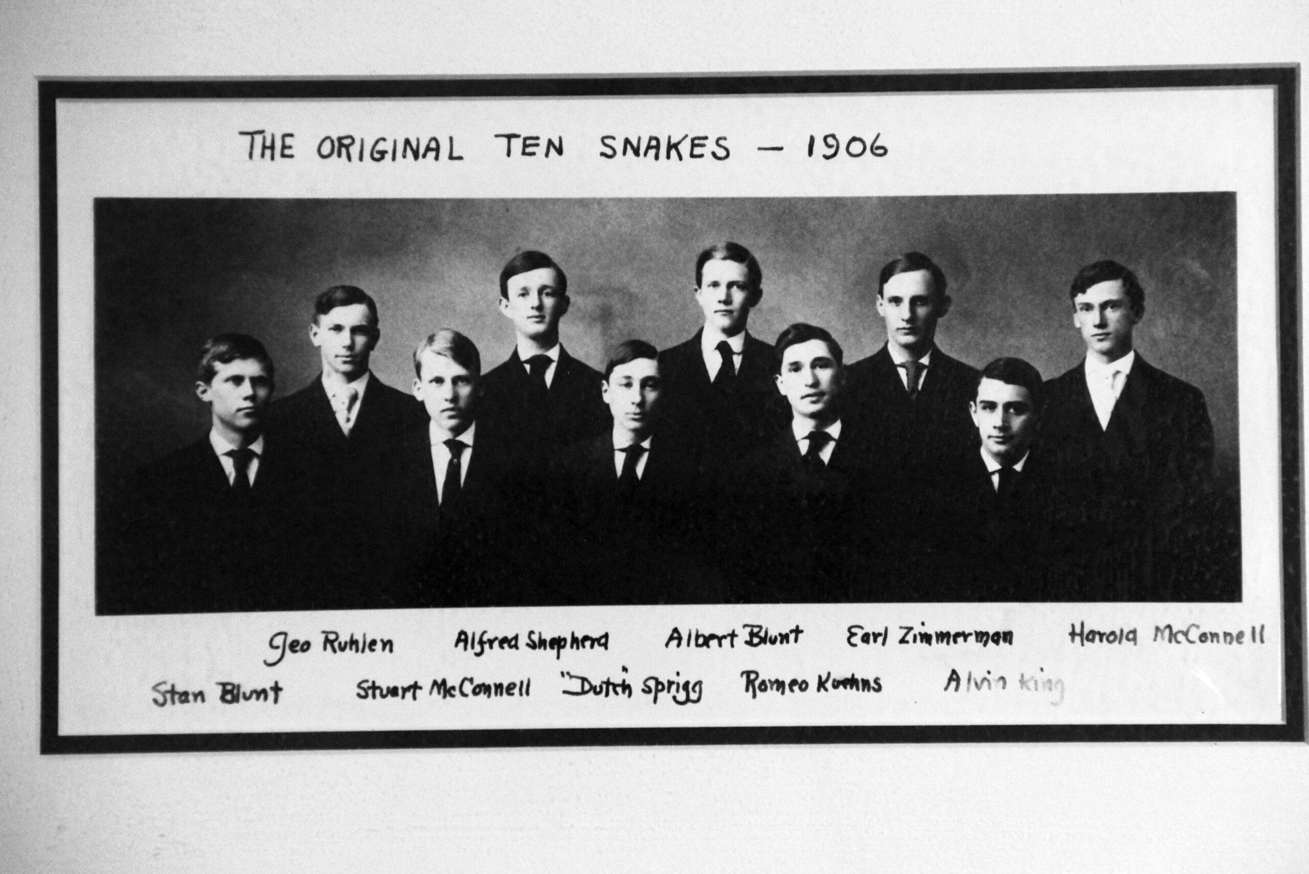The original members of Seal and Serpent in 1906.