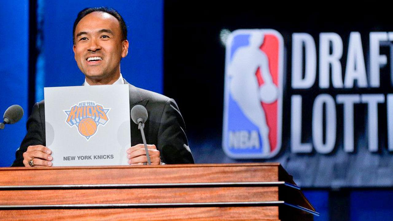 Tatum presiding over the NBA Draft Lottery in 2015.
