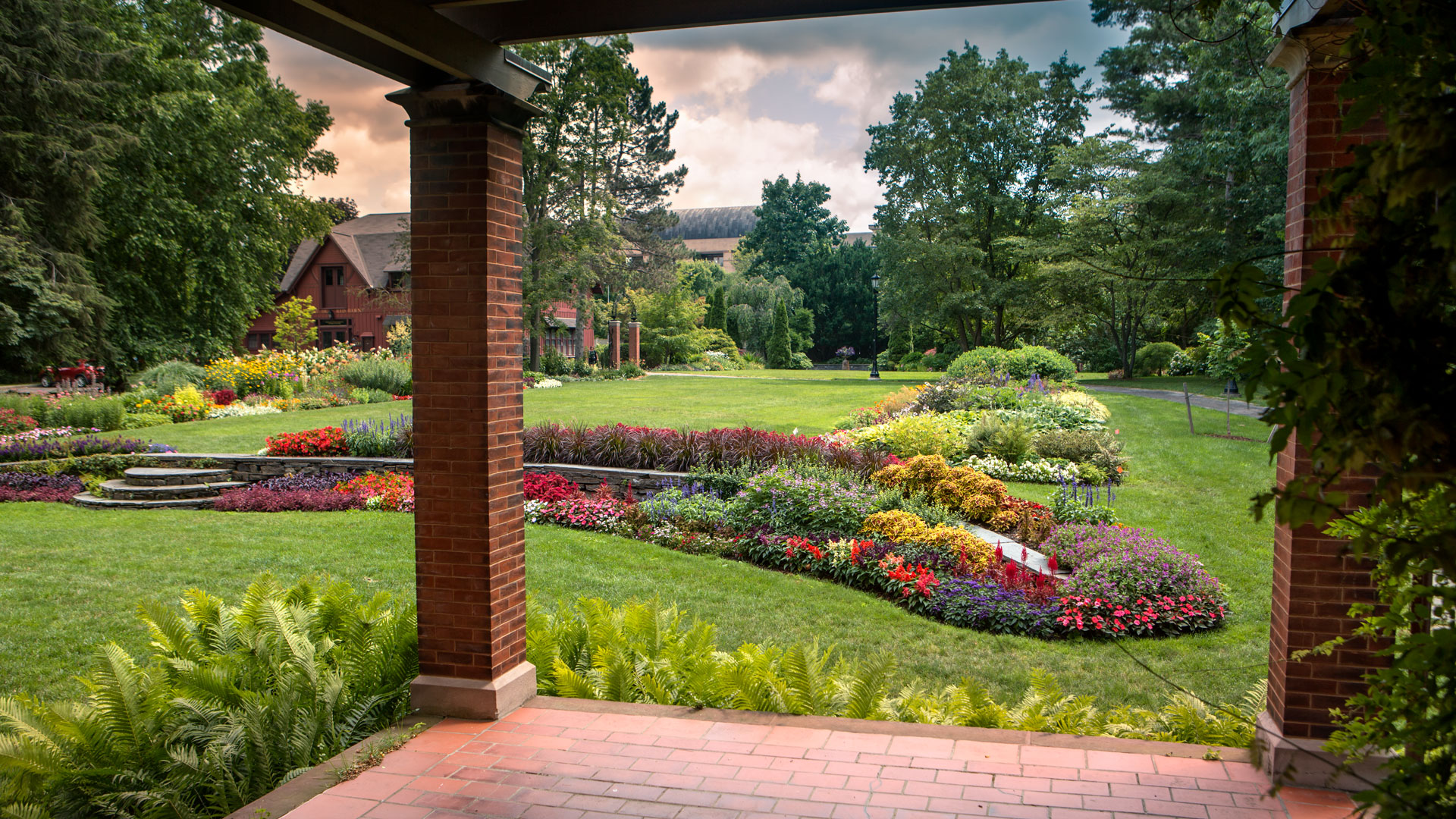 One of the gardens behind A.D. White House.