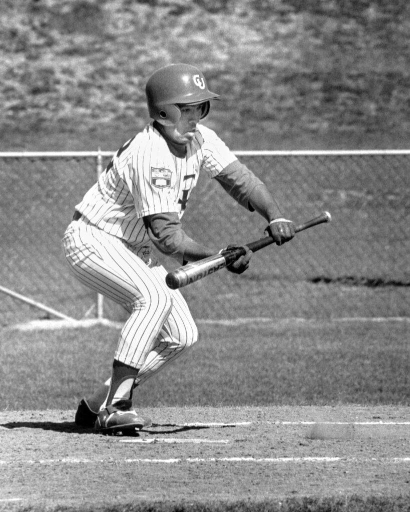 Tatum playing baseball for the Big Red.