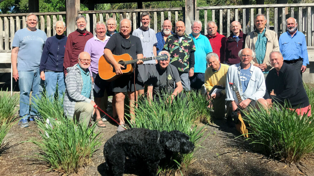 Sherwoods of Cornell alumni gather for a group photo during a practice in 2019 in Longboat Key, Florida