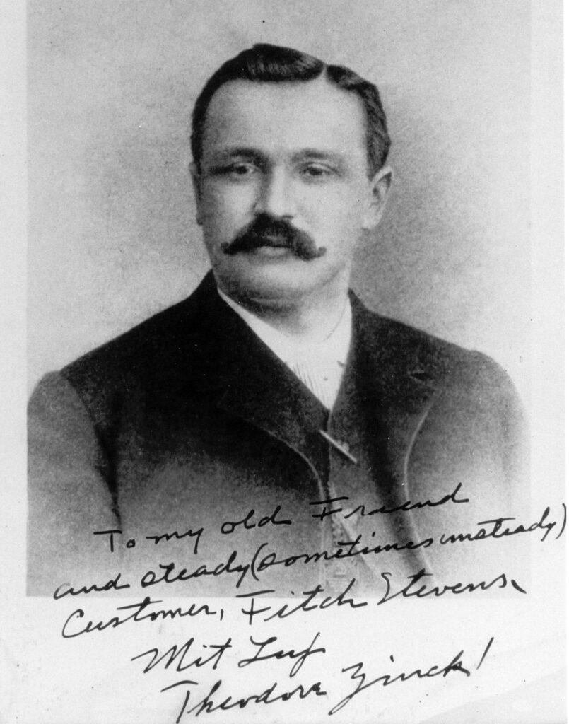 A vintage photo of Theodore Zinck