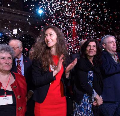Cornell alumni celebrating together