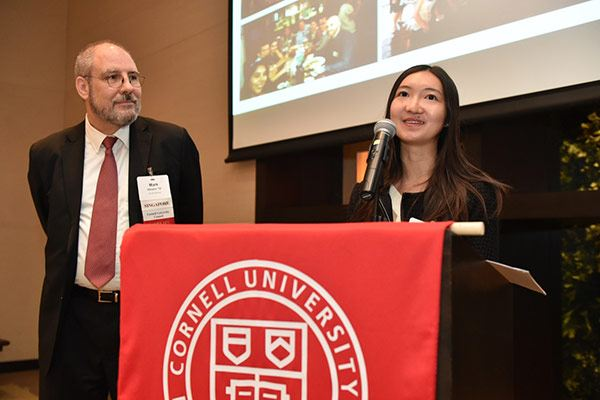 Mark Hansen '79 and Sophia Lu '11