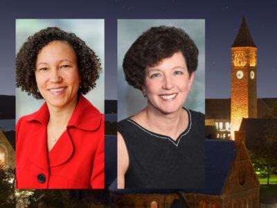 Cornell alumni elected Katrina James '96 (left) and Pamela Marrone '78 to the Cornell University Board of Trustees in May 2016.