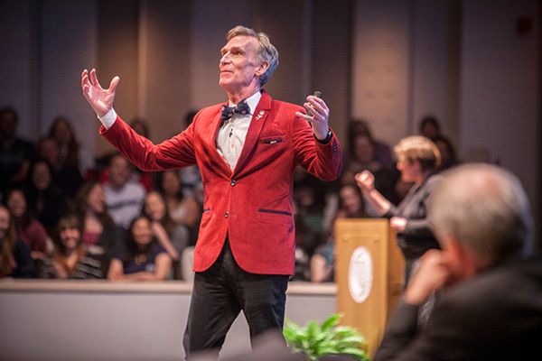 2015 Charter Day Weekend: Bill Nye 'The Science Guy' speaks during Cornell and the Joy of Discovery: Any Person, Any Planet.