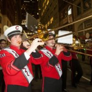 The Big Red Band performs at the 2014 Sy Katz '31 Parade.