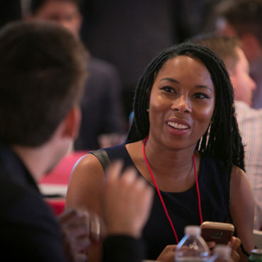 The networking lunch at the 2016 Cornell Entrepreneurship Summit.