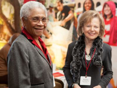 Eleanor Applewhaite and Pauline Degenfelder at the Cornell Alumni Leadership Conference (CALC).