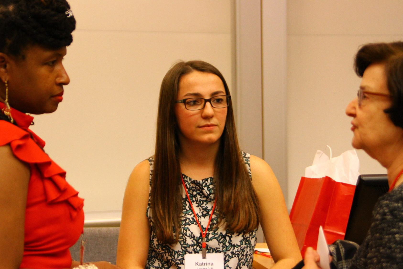 Katrina Lastra, a student panelist at the first-gen TCAM panel
