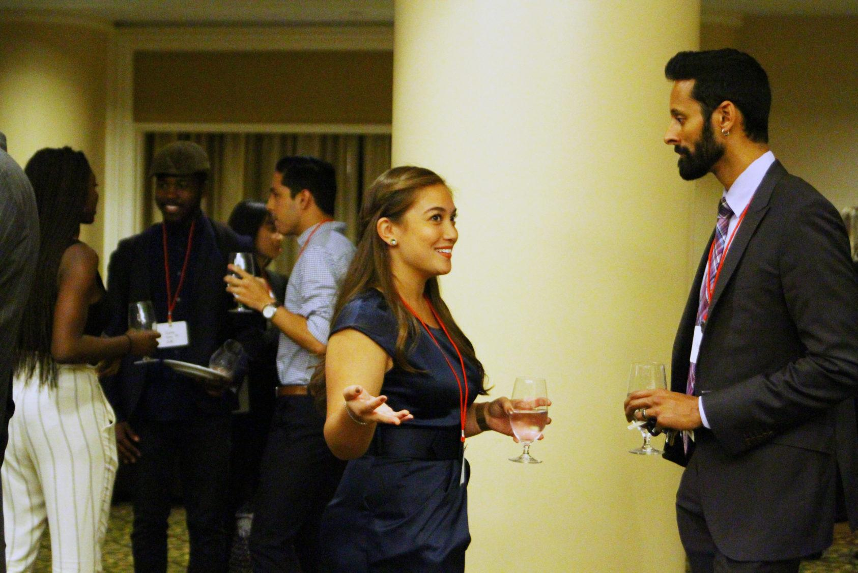 Vijay Pendakur at a TCAM student-alumni networking event
