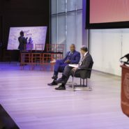 Robert F. Smith '85 and Lance R. Collins, the Joseph Silbert Dean of Engineering