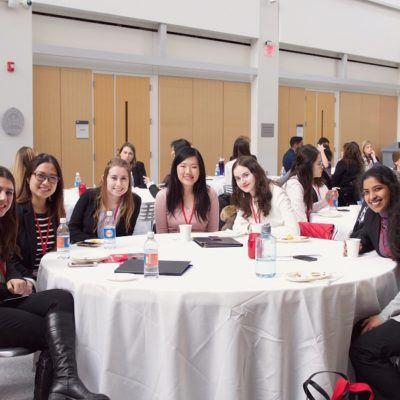Students at healthcare leadership symposium