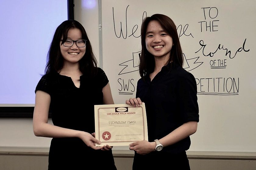 The winners of last year's Stock Pitch Competition, hosted by Cornell's Smart Woman Securities