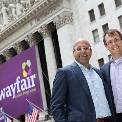 Niraj Shah and Steve Conine, 2018 Cornell Entrepreneurs of the Year