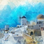 grecian watercolor