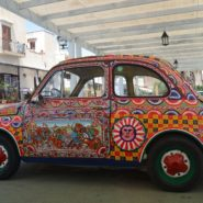 decorated VW bug