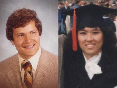 John Boochever '81 and Yonn Rasmussen '83, MS '86, PhD '89 as Cornell students