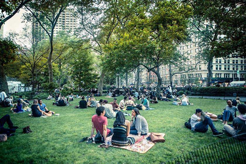 A New York City park.