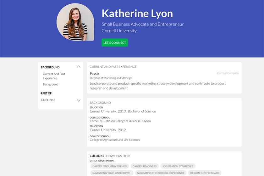 CUeLINKS profile for Katherine Lyon '13
