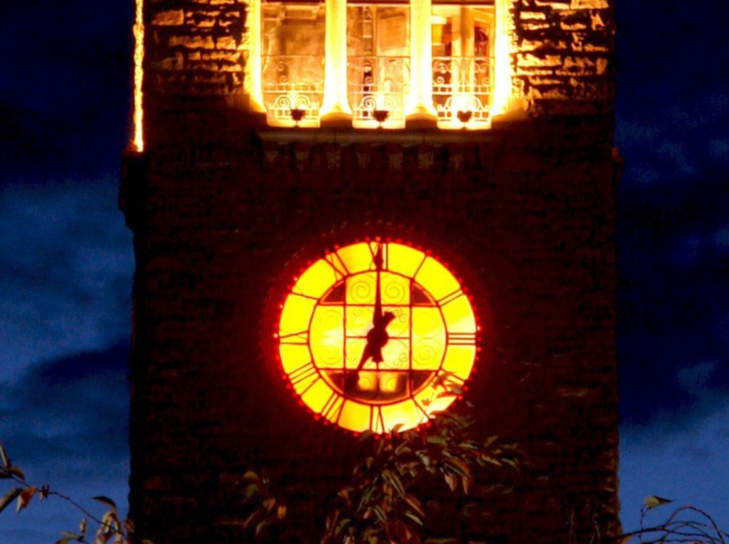 Pumpkin clock tower
