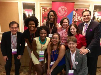 Young alumni participating in diverse alumni programs