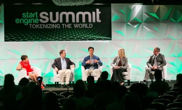 John Wu speaks on a panel at the 2018 StartEngine Summit.