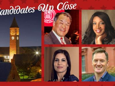 The candidates endorsed by the Committee on Alumni Trustee Nominations for 2019: Roderick Gong-Wah Chu MBA '71; Cynthia A. Cuffie '74; Terrance N. Horner Jr. '92, PhD '98, and Lorette Simon Gross '89, MBA '90.