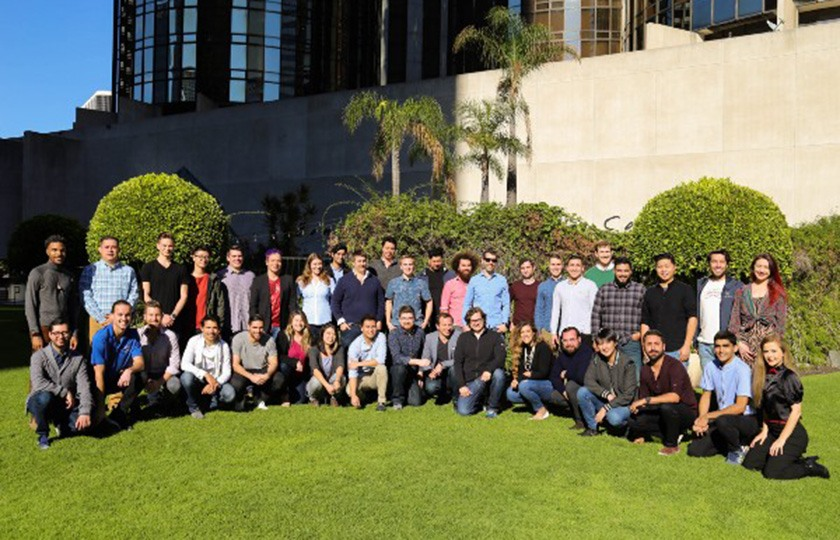 Members of the Produce Pay team at a company event in Los Angeles, California.