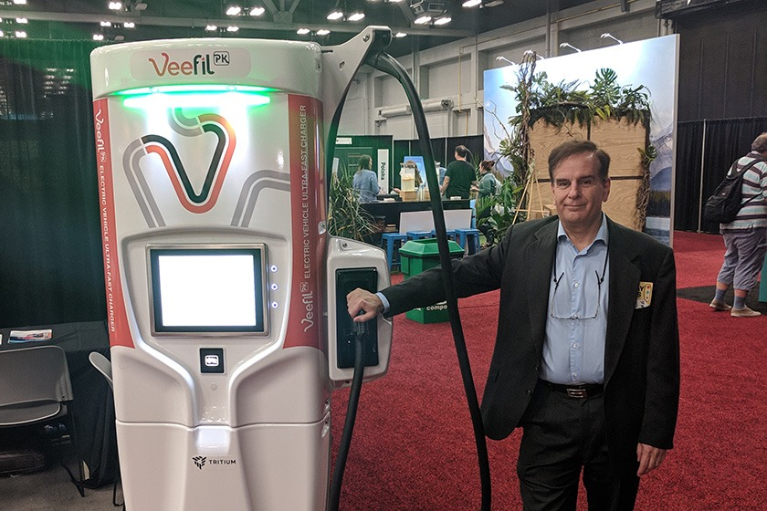 Jeff Wolfe and a fast charging unit