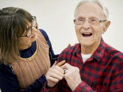 Kenneth Dehm '50 celebrates his 100th birthday.
