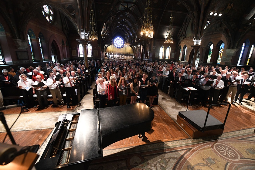 A service in Sage Chapel in memory of Thomas Sokol.