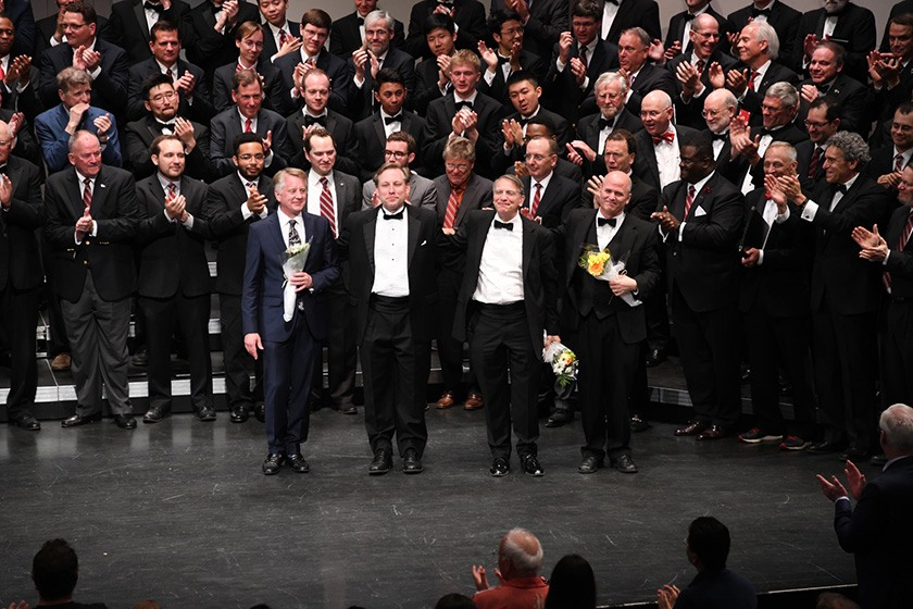 The four directors who conducted the Reunion Concert