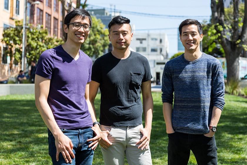 Co-founders Derrick Ko, Euwyn Poon, and Zaizhuang Cheng..