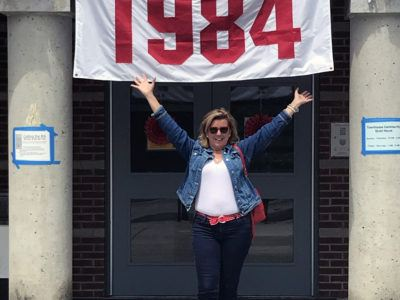 Terri Port at the Class of 1984 35th Reunion in 2019.