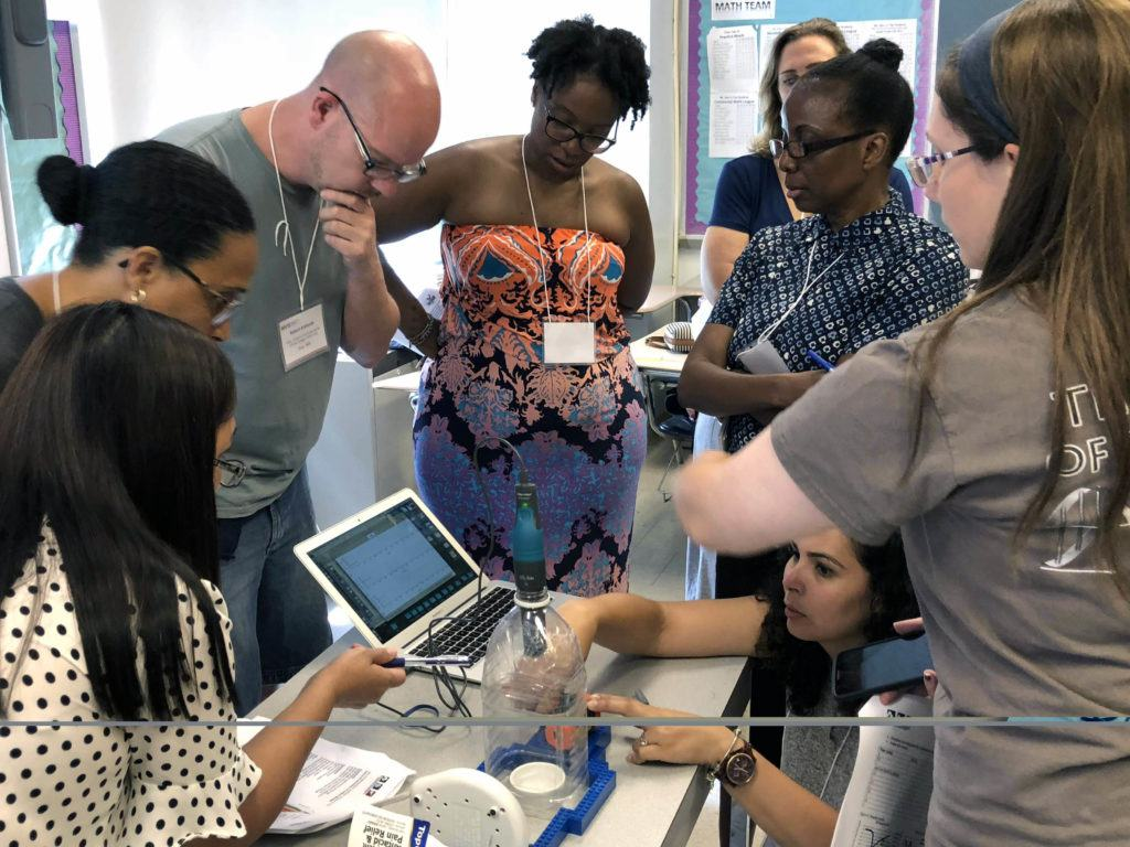 Teachers from NYC at a TFGCC professional development workshop in summer 2018.