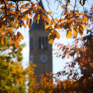 McGraw Tower in fall.