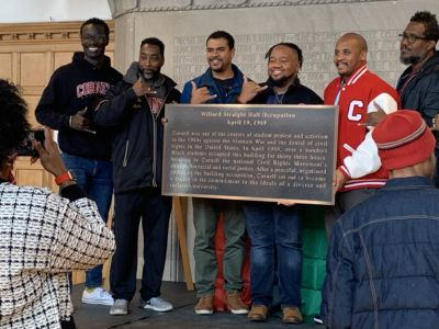 50th anniversary of the Willard Straight Hall occupation of 1969: plaque unveiling and dedication during Homecoming weekend at Cornell.