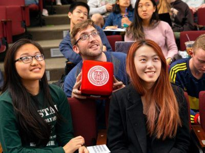 Cornell students smiling