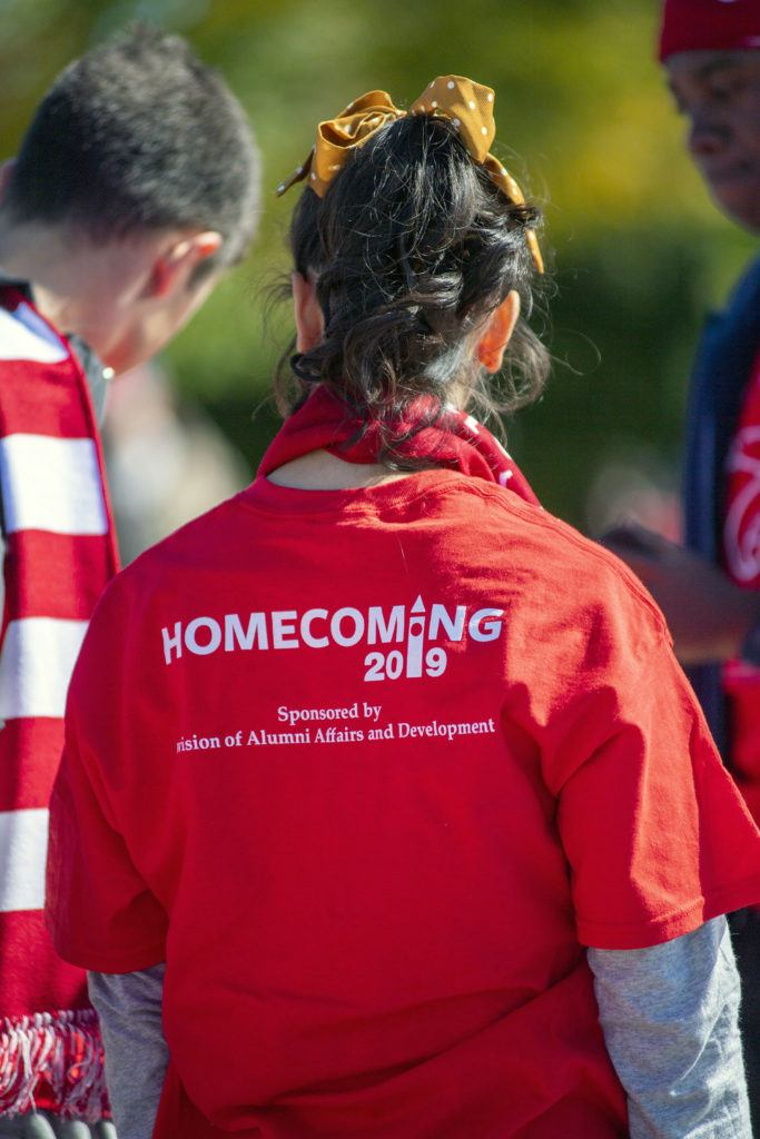 As part of Homecoming festivities, students receive class t-shirts sponsored by AAD. Each class year's shirt is designed by a member of their class.