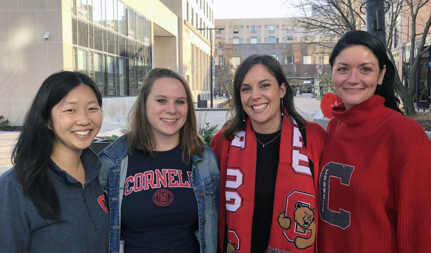 Student and young alumni programs team members Cait Collins, Amanda Massa, Nicole Svonavec, and Mandy Bennison.