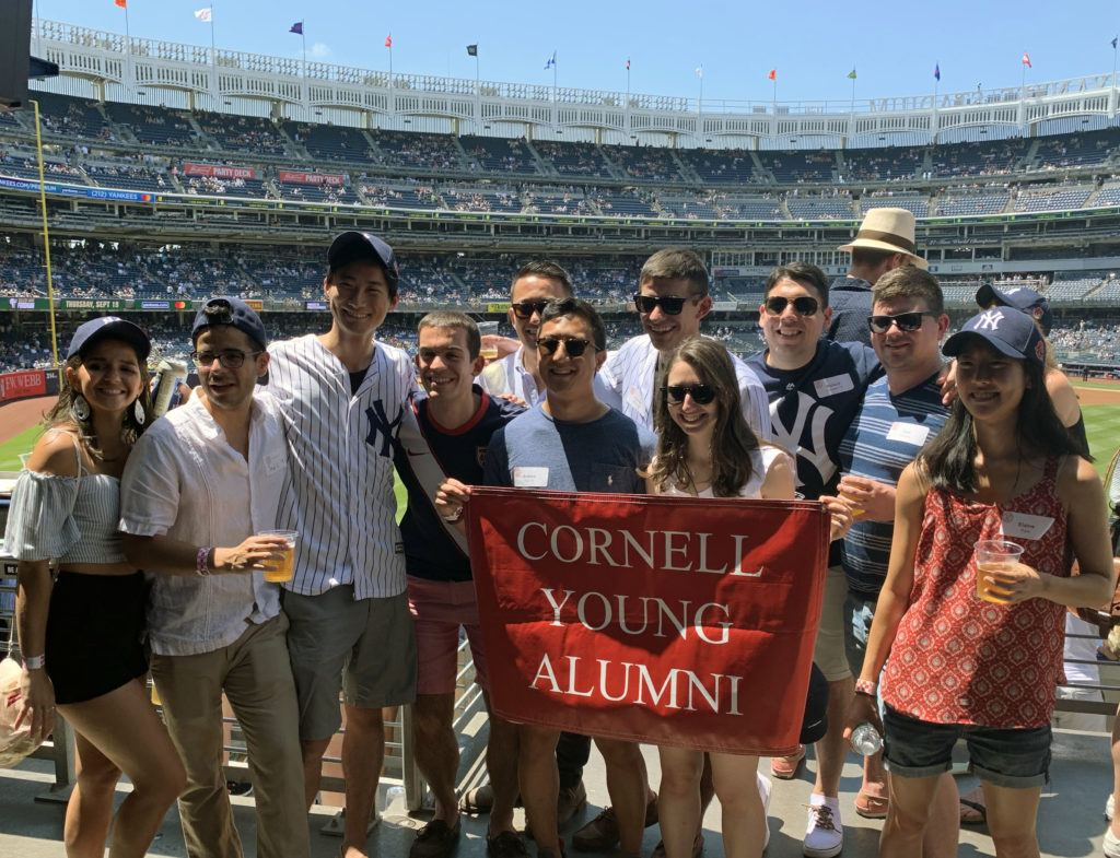 Young alumni enjoy Cornell Day at the Yankees.