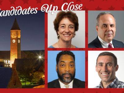 Candidates Up Close, Beth Anderson, Ariel E. Belen, E. Eric Elmore, and Doug Mitarotonda