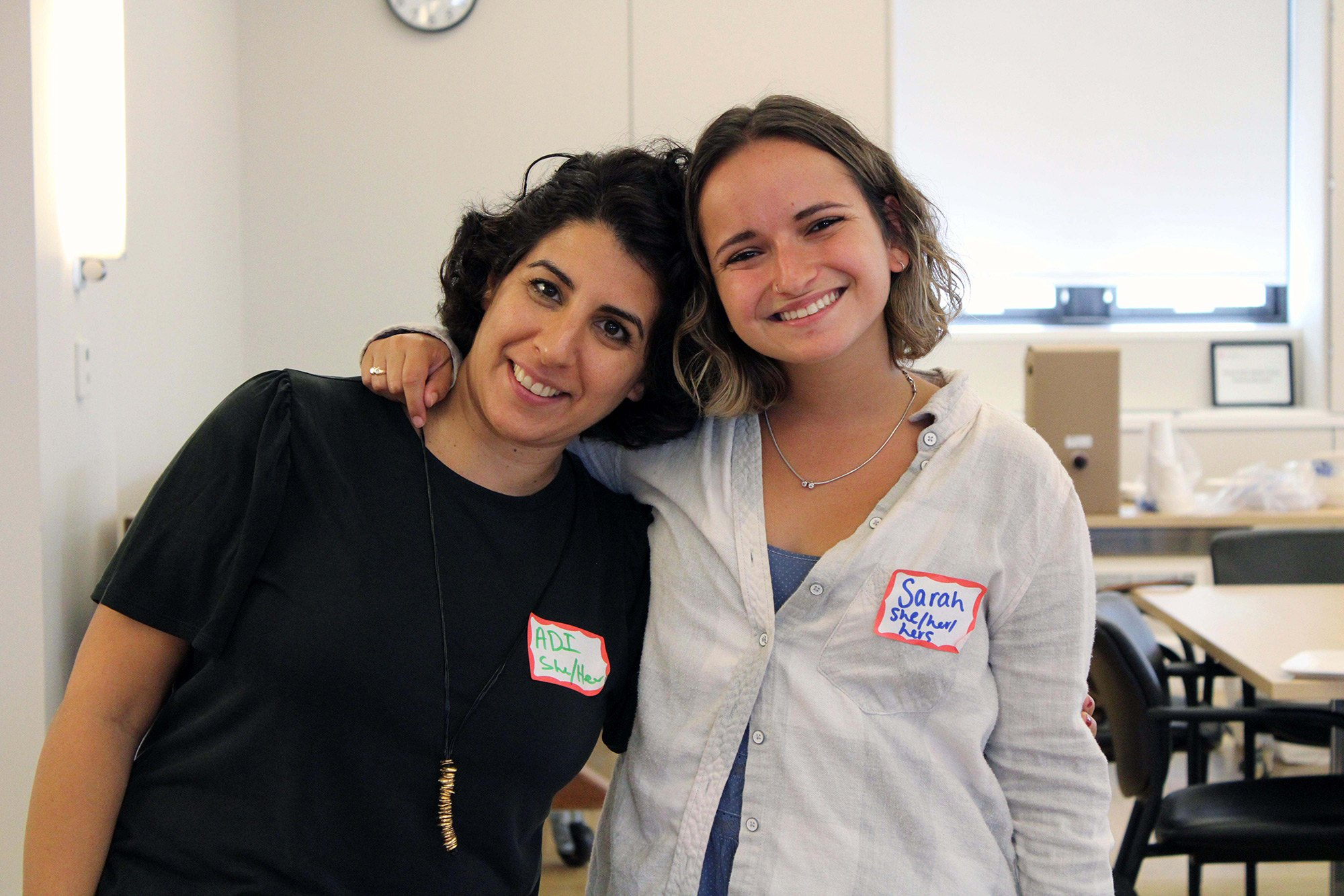 Adi Grabiner Keinan PhD '15, with Sarah Aiken '18, an IDP alum who assisted with facilitator training in spring 2020.
