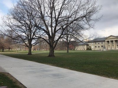 The Arts Quad on a recent spring day.