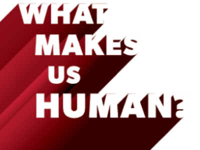 What makes us human graphic logo