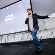 David Tisch, head of Startup Studio at Cornell Tech, kicks off the Startup Award finalist presentations.