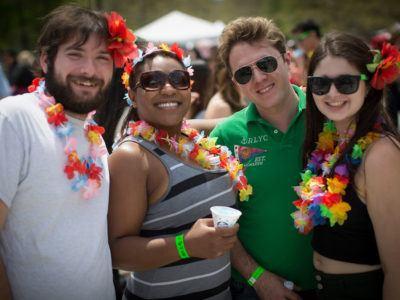 Students at Slopefest 2016
