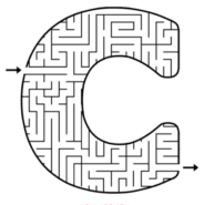 Cornell C maze from activity book