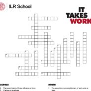 ILR School Crossword Puzzle